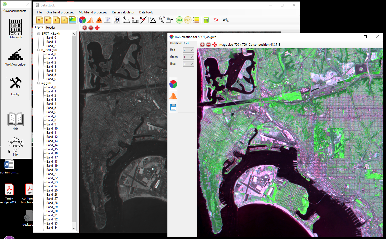Giwer: GeoImage Workflow Editing Resources